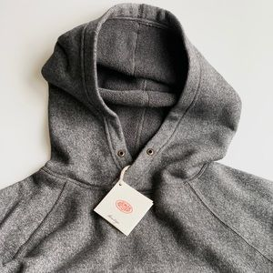 Hoodie Sweater with Terry Cloth Interior